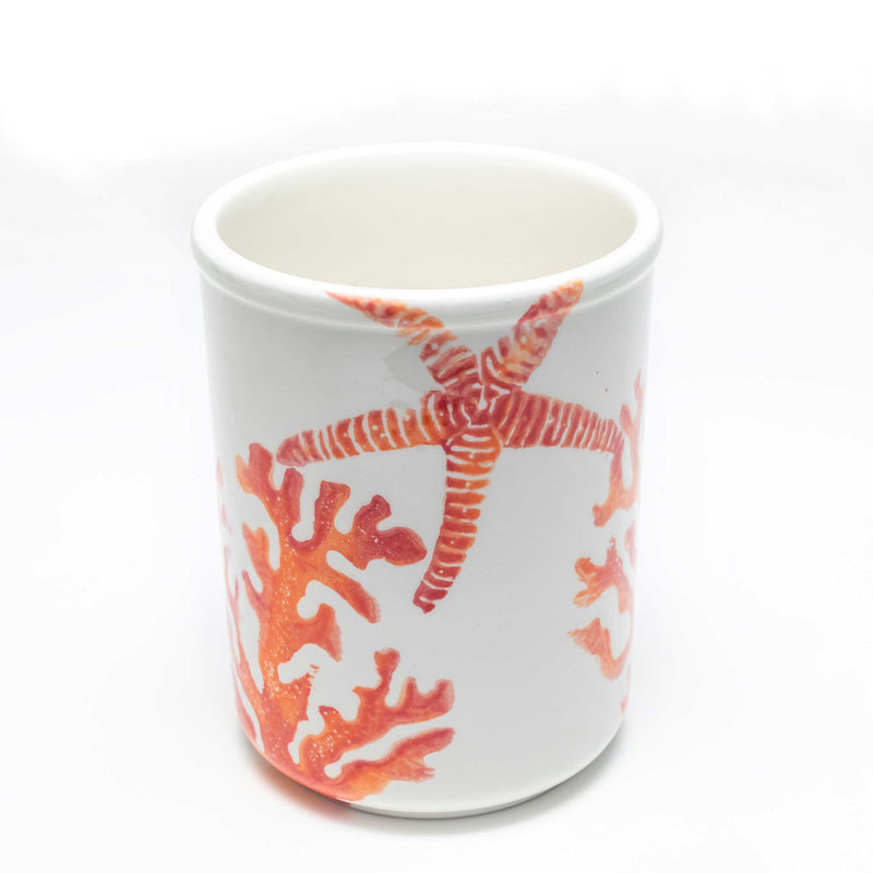 Hand Painted Utensil Holder