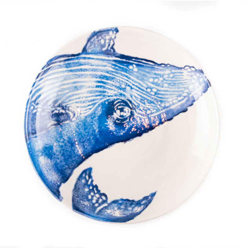 Hand Painted Sea Animal Pasta Plates - Assorted (4pcs)