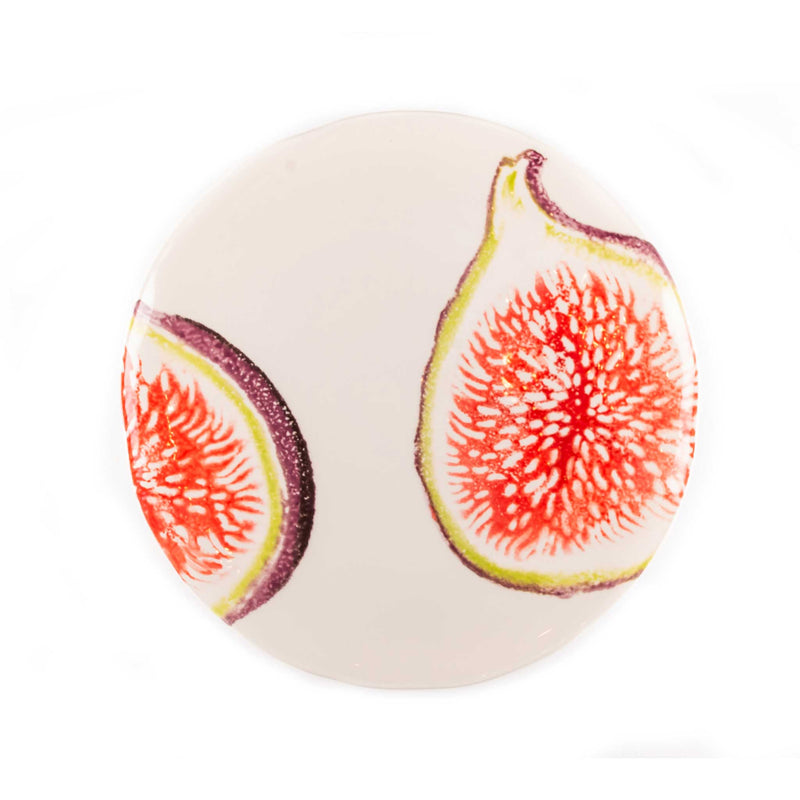Hand Painted Fruits Irregular Salad Plates 23cm - Assorted Set of 4