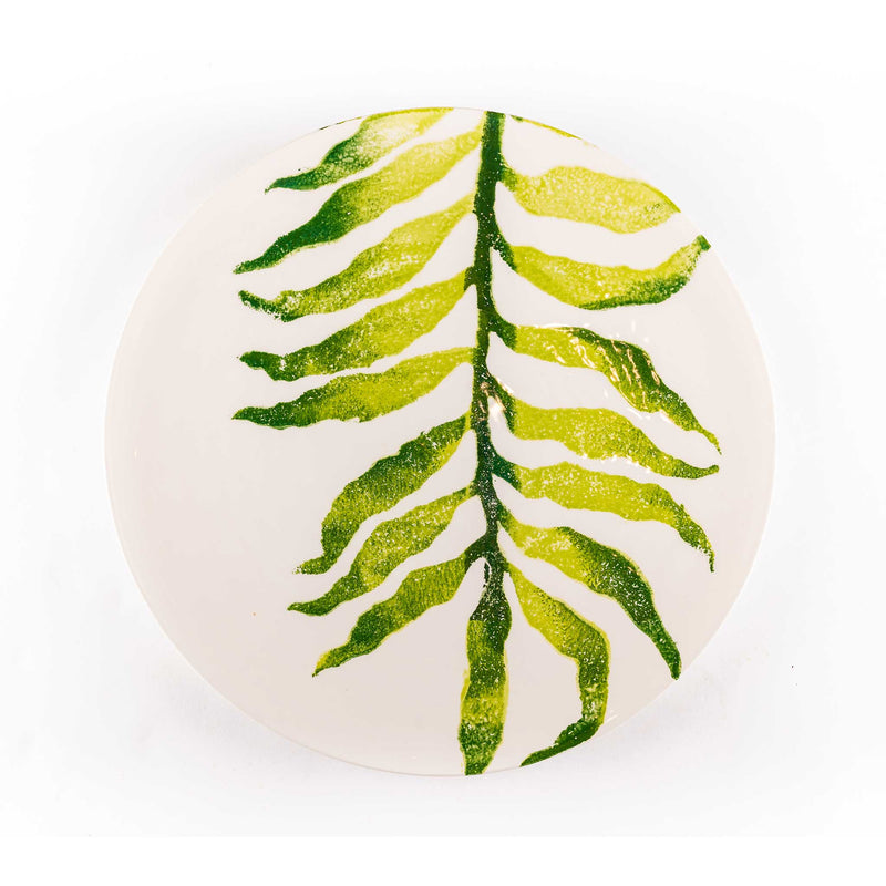 Hand Painted Leaf Regular Dinner Plates - Assorted Set of 4