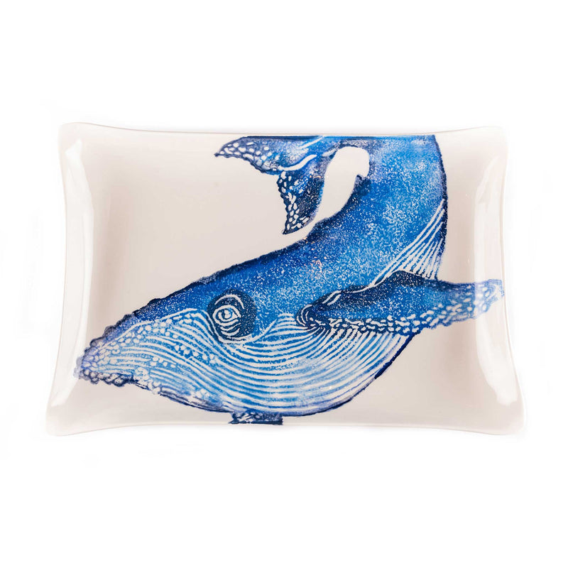 Hand Painted Sea Animal Rectangular Tray - Assorted