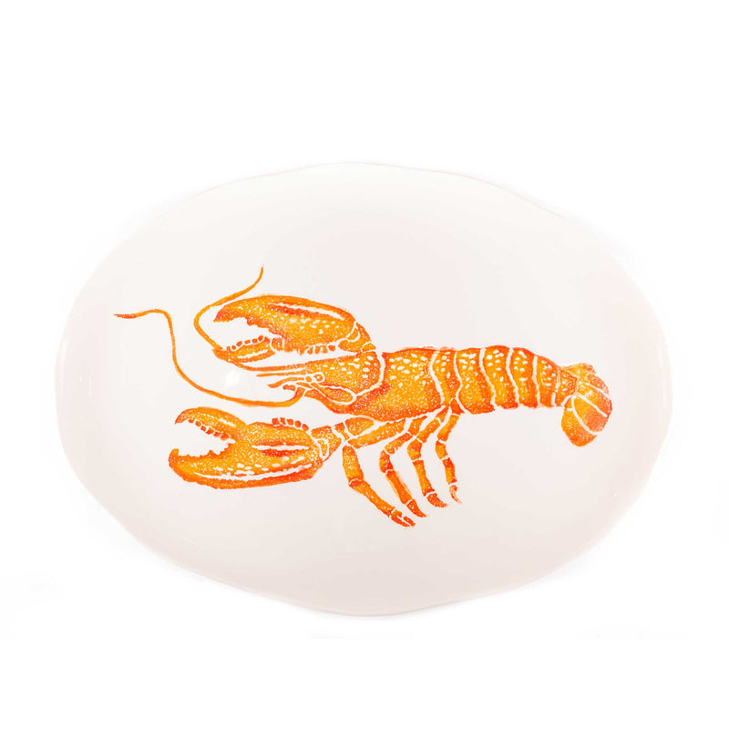 Hand Painted Sea Animal Large Oval Platter - Assorted