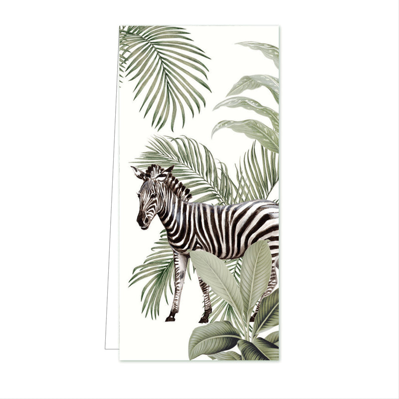 Flower Card Into the Wild Zebra