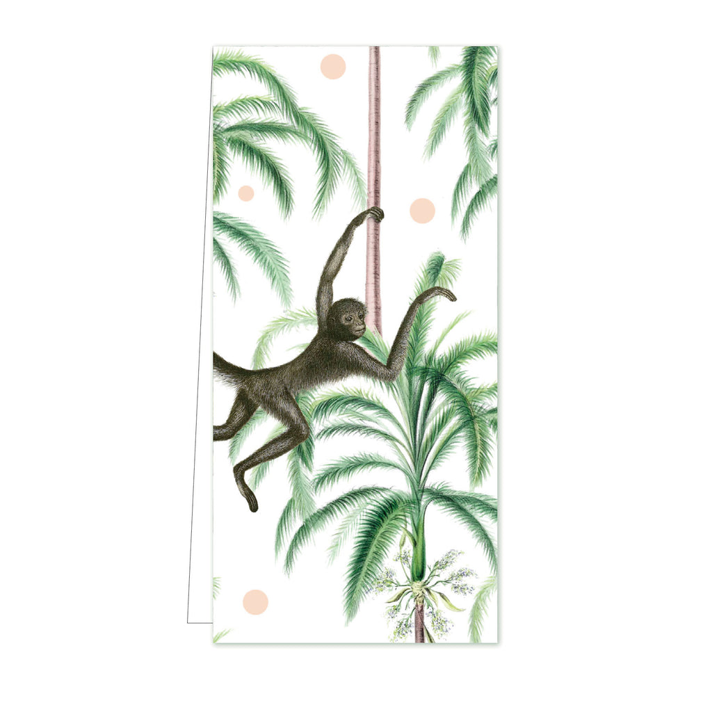Flower Card Swinging Monkeys