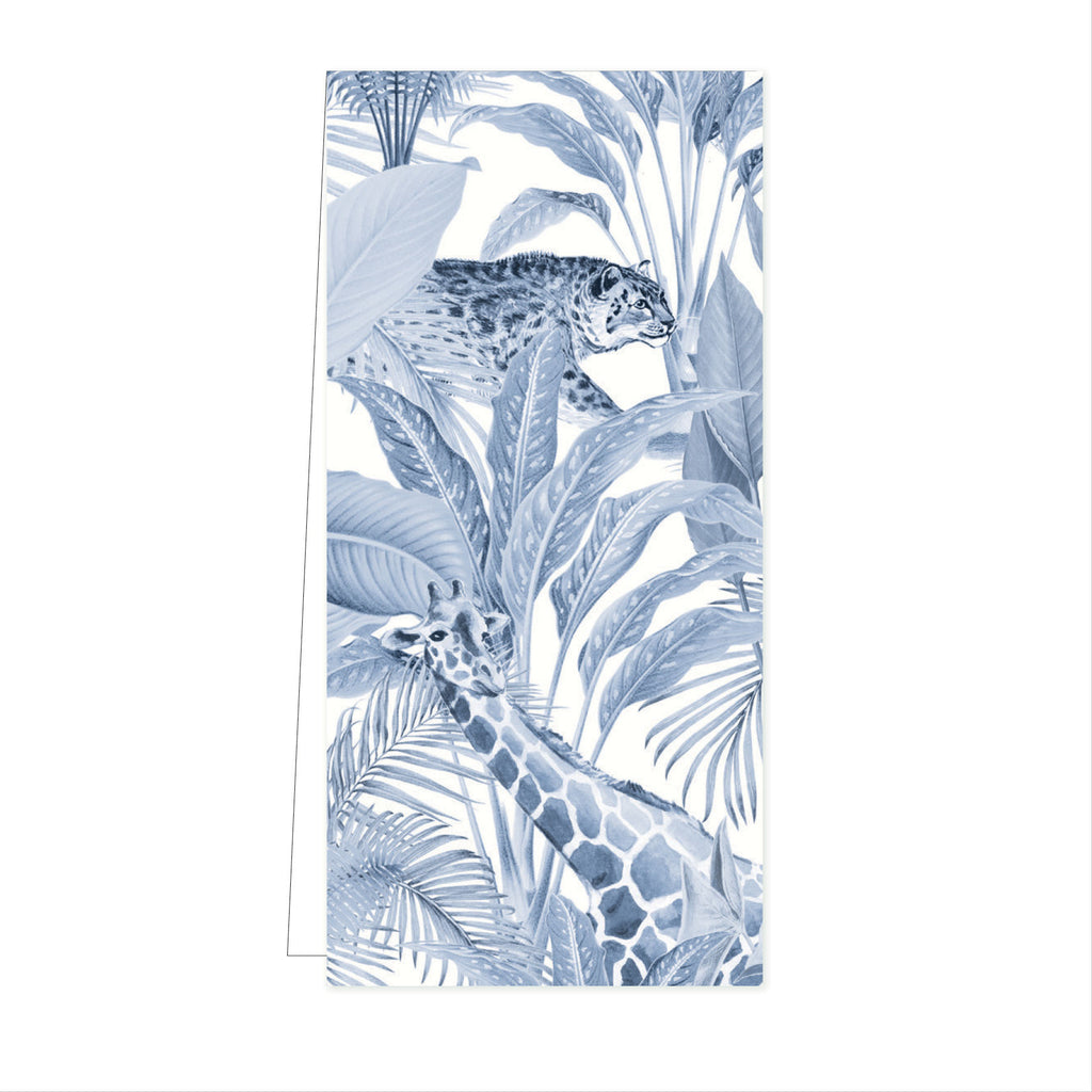 Flower Card Blue Jungle