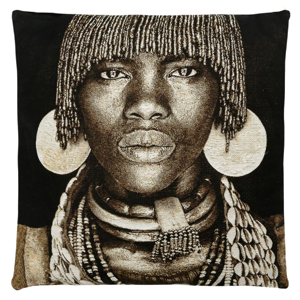 Hamar Woman Ethiopia Cushion