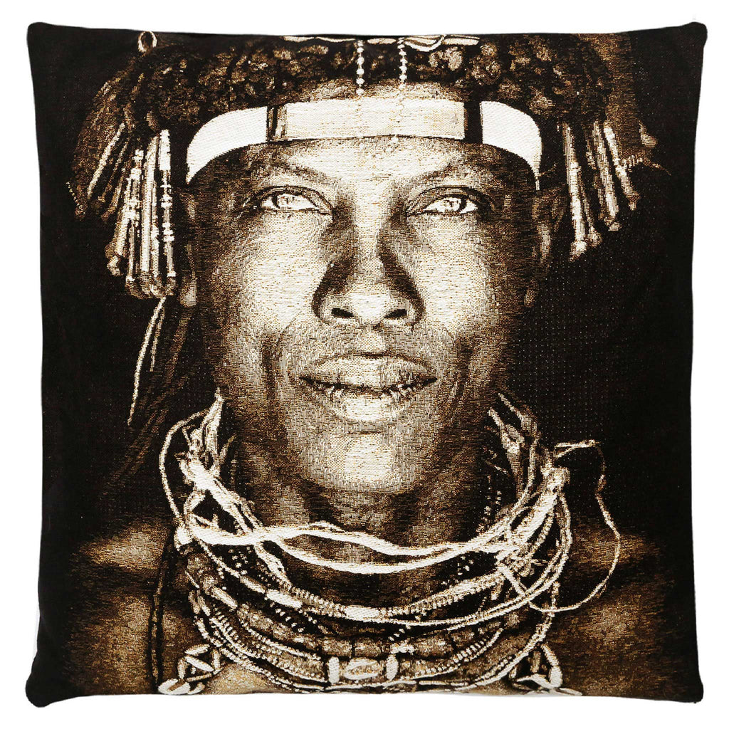 Ovakaona Tribe Angola Cushion