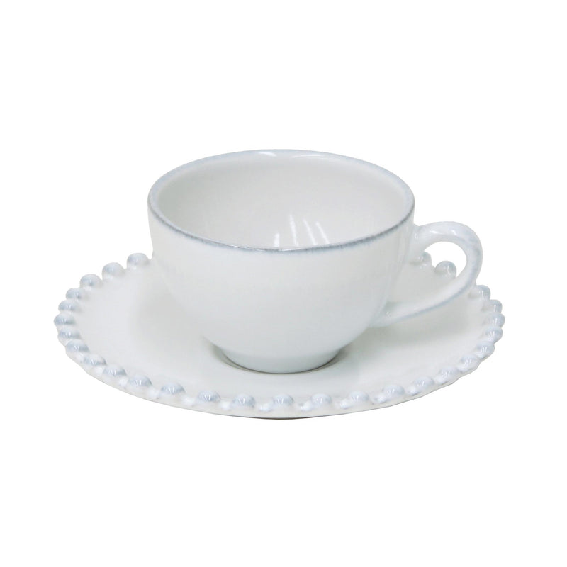 Pearl Coffee Cup & Saucer set of 6