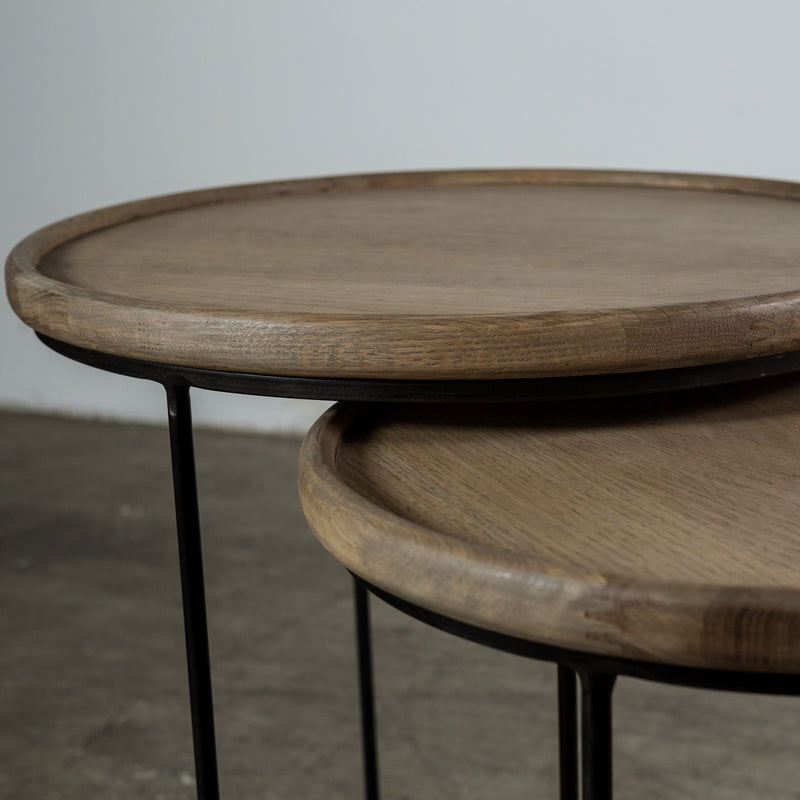 Prius Table - Oak Metal
