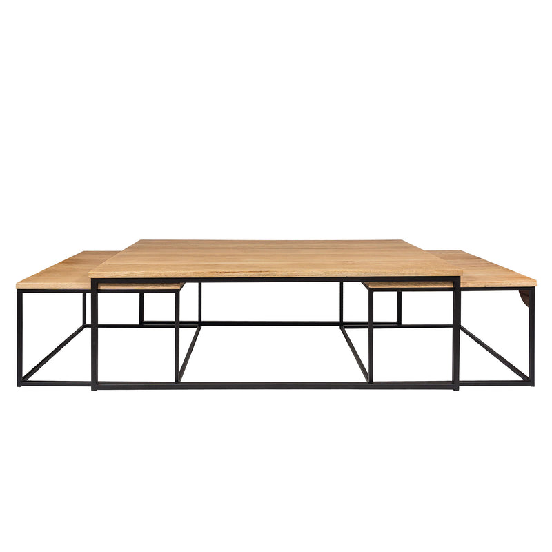 Coffee Table Prato with 2 Side Tables