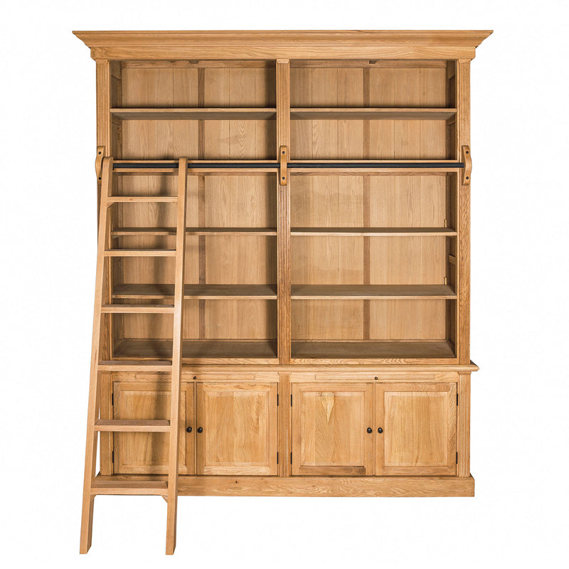 oak bookcase with ladder rennes
