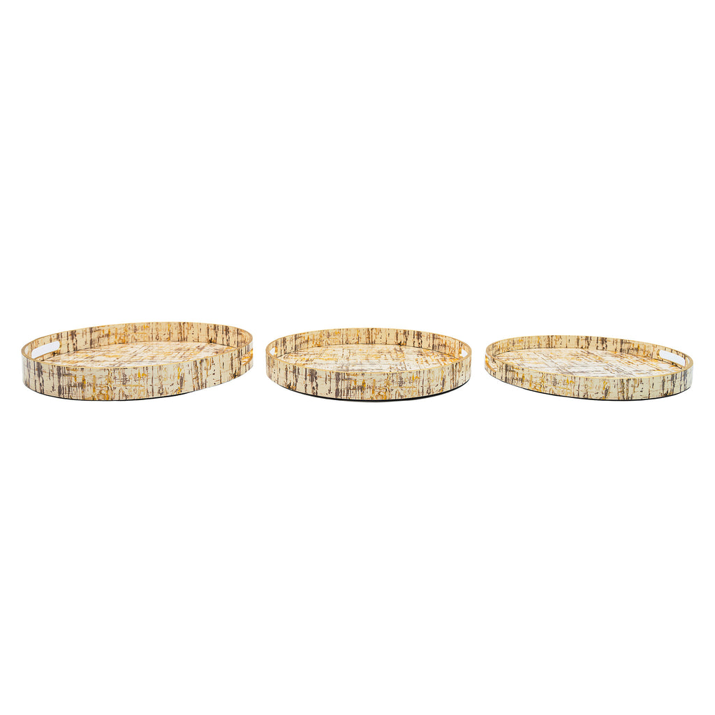 lacquer trays lacquer ware round set of 3