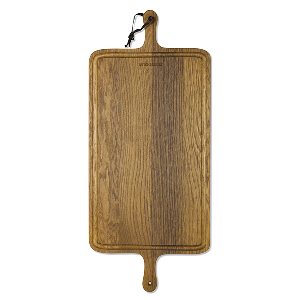 Bread Board XL Rectangular Smoked Oak Wood