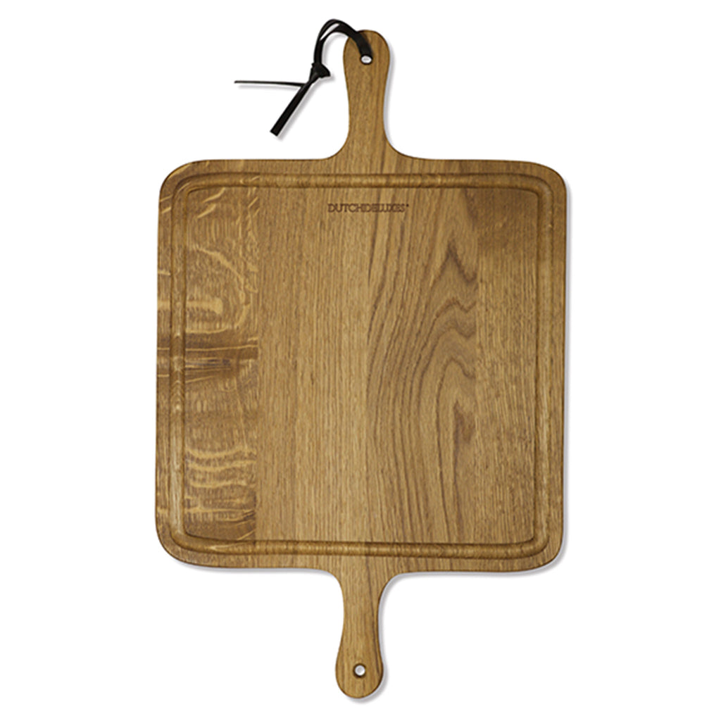 Bread Board XL Square Smoked Oak Wood