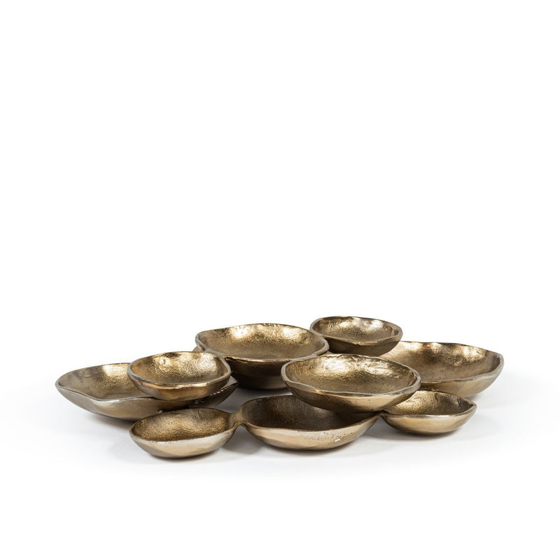 Multi bowl Antique Gold 57x57x8cm Brass Antique