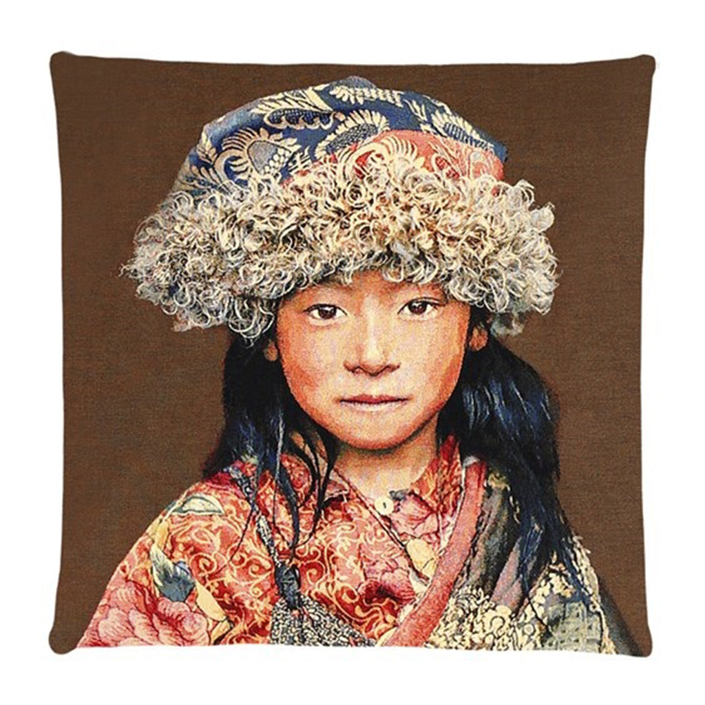 Tibetan Child Cushion Cover