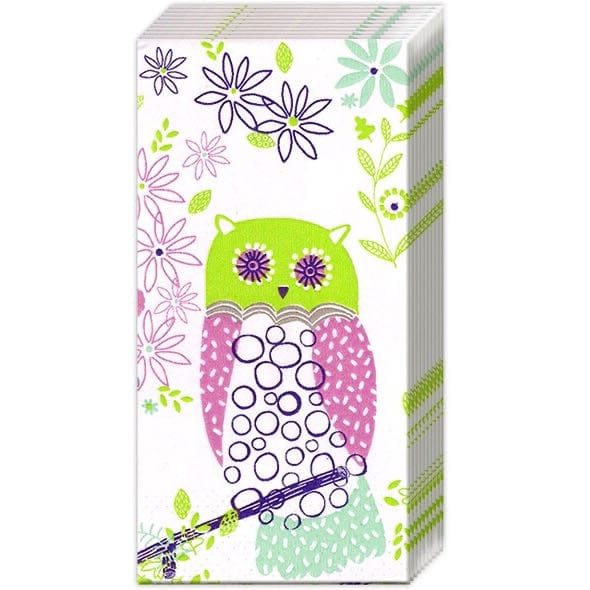 Paper Handkerchief Jolly Owls