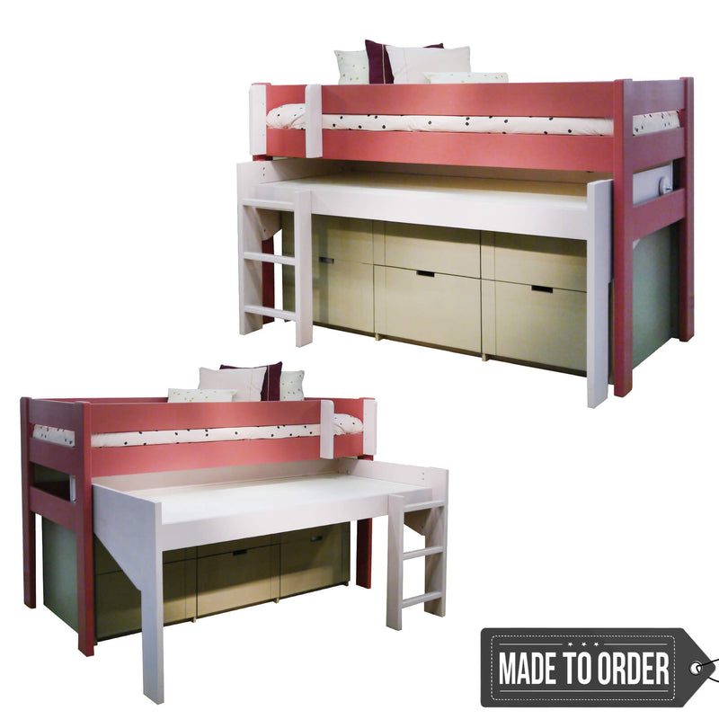 Dominique Single Bed with Pull Out Drawer
