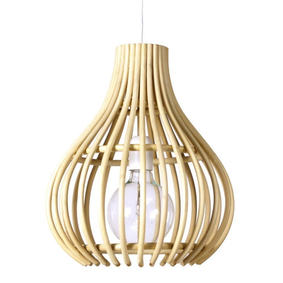 Lamp Bulb Pure Rattan Natural