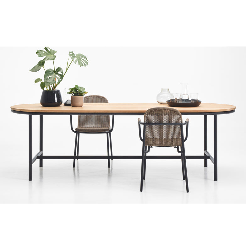 dining table outdoor teak wood contour