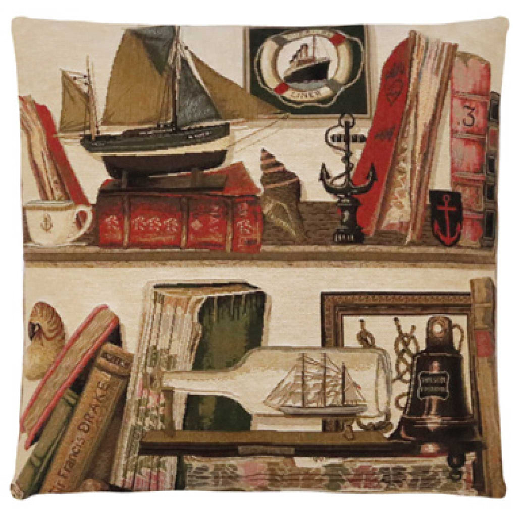 Nautical Library Cushion Cover