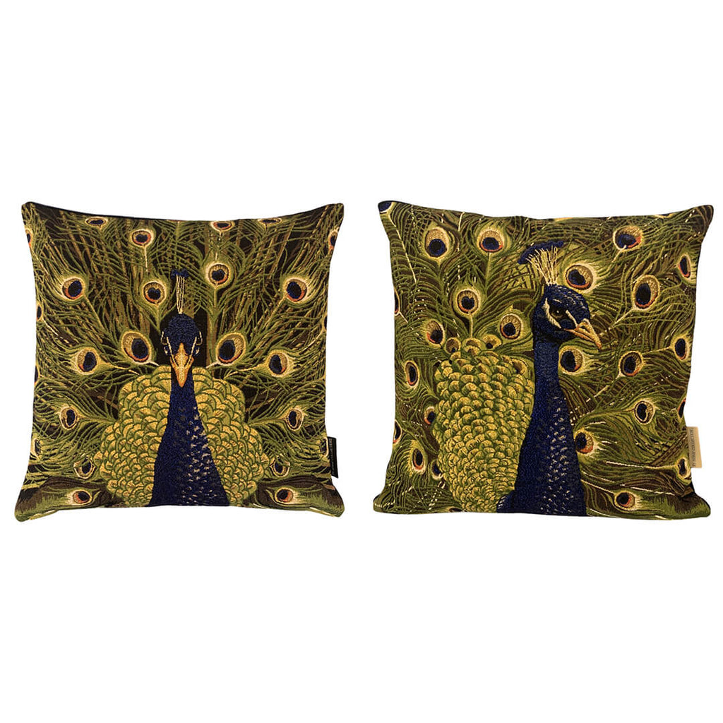 Peacock Gold Cushion Cover