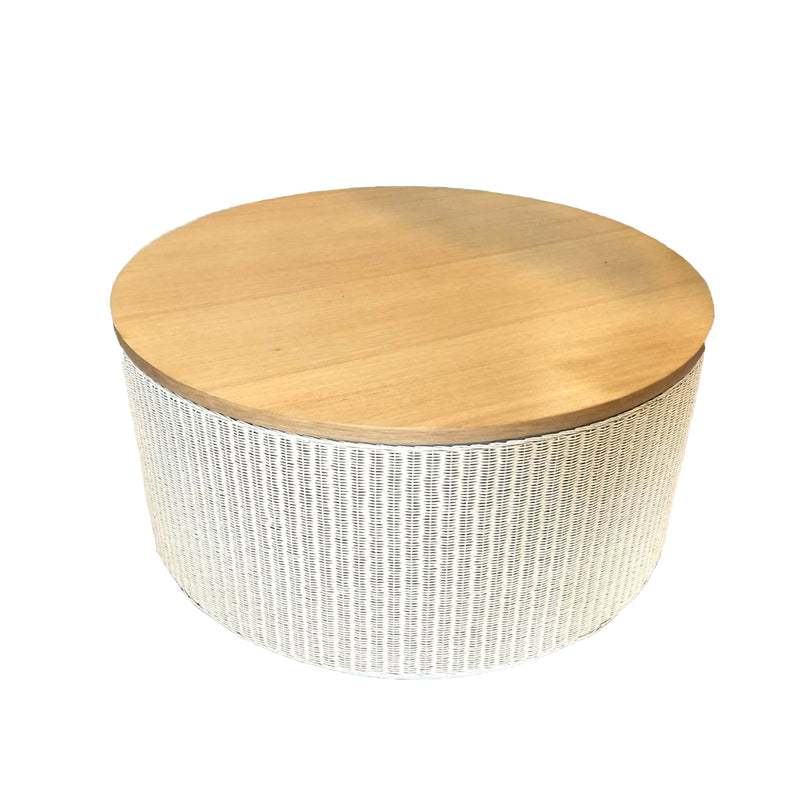 Rondo coffee table in natural Lloyds loom twisted paper