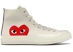 "Converse Chuck Taylor All-Star 70s Hi Comme des Garcons PLAY ""White"""