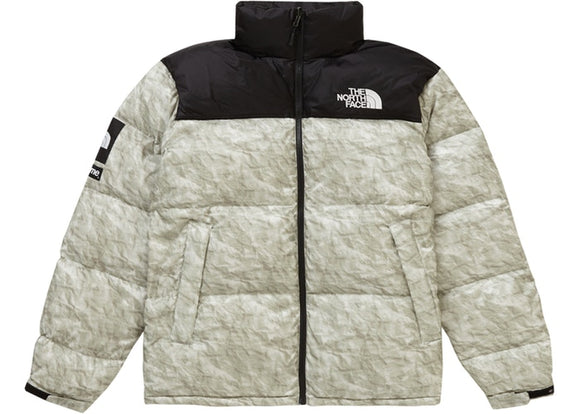 Supreme The North Face Paper Print Nuptse Jacket