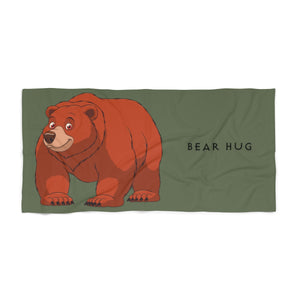 Bear hug Beach Towel