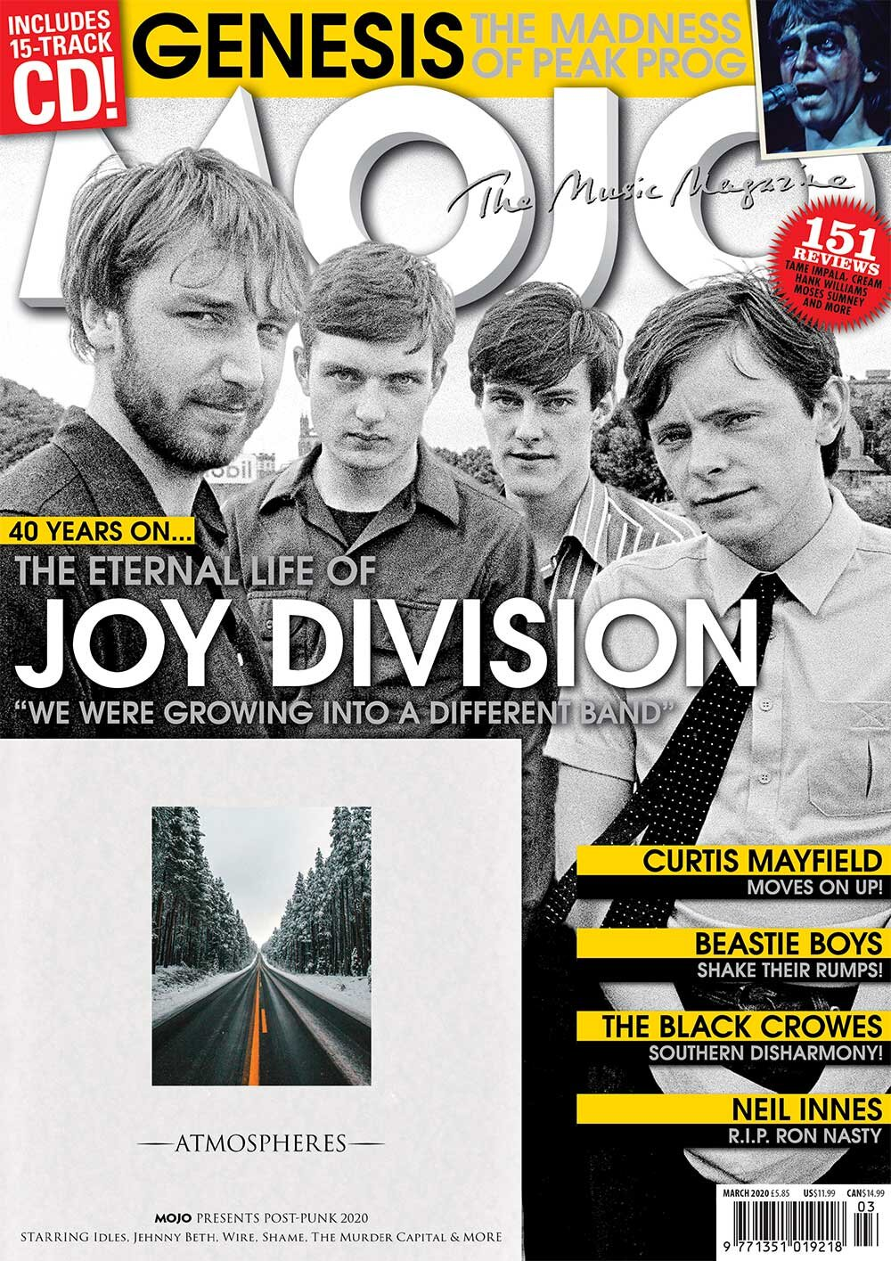 Mojo Magazine Issue 316 (March 2020) - Joy Division
