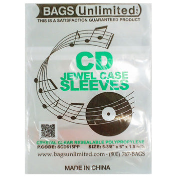 CD Jewel Case Sleeves (resealable)