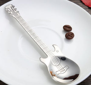 Guitar Dessert Spoon by Room Service Home, Pack of 6