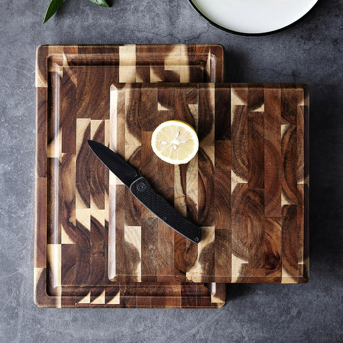 Home kitchen cutting board solid wood antibacterial and anti-mild board Baby food supplement chopping board zabra color