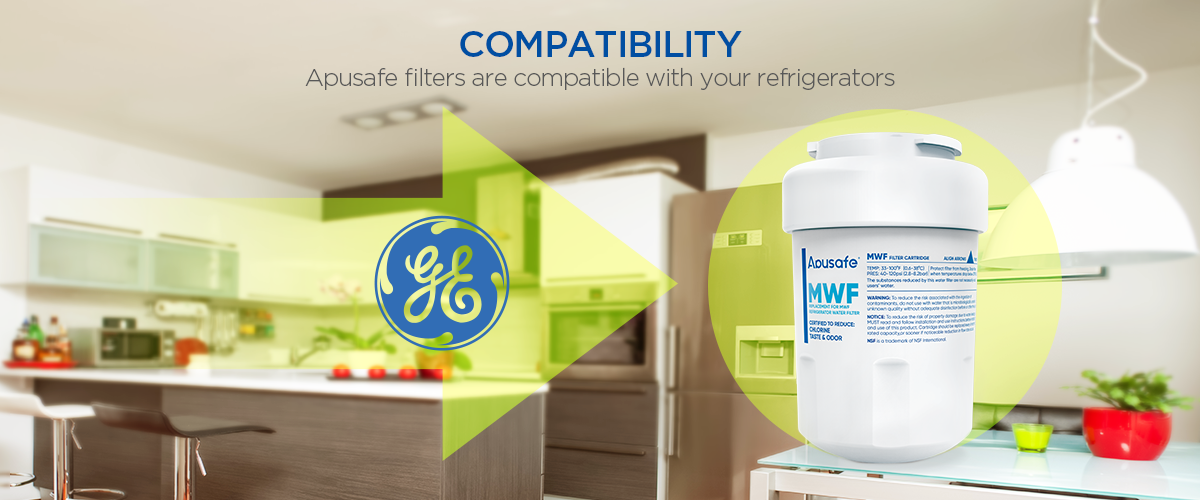 GE Refrigerator Ice Water Filter SmartWater MWF GWF Kenmore 9991 Fridge Cartridge Replacement