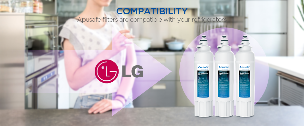 LG LT800P Refrigerator Ice Water Filter Kenmore 469490 Fridge Cartridge Replacement APF800P