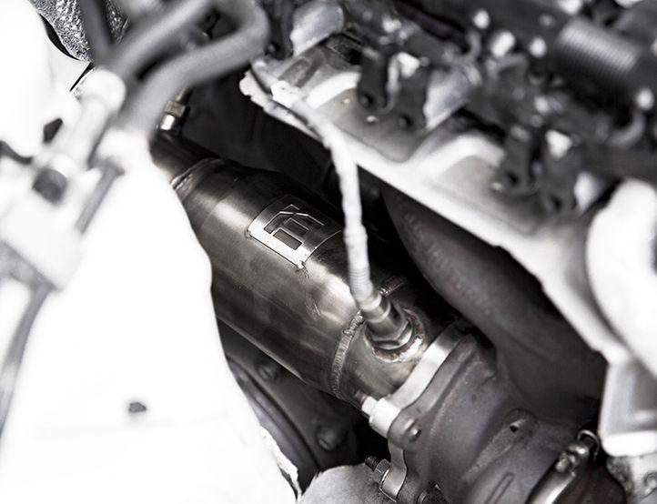 "INTEGRATED ENGINEERING AUDI 2.0T B8 B8.5 3"" CATTED DOWNPIPE (A4, A5 & Q5)"