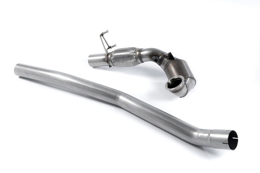 Milltek Large Bore Downpipe and Hi-Flow Sports Cat - S3 - 2.0 TFSI quattro 3-Door 8V/8V.2 (Non-GPF Equipped Models Only) - 2013 - 2018