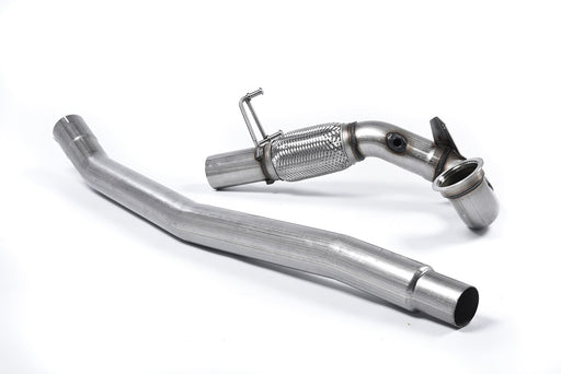 Milltek Large-bore Downpipe and De-cat - S3 - 2.0 TFSI quattro Sportback 8V/8V.2 (Non-GPF Equipped Models Only) - 2013 - 2018