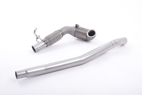 Milltek Large Bore Downpipe and Hi-Flow Sports Cat - S3 - 2.0 TFSI quattro Sportback 8V/8V.2 (Non-GPF Equipped Models Only) - 2013 - 2018