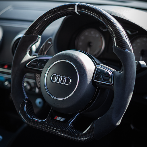 Audi Custom Carbon Fibre Steering Wheel (Older Generation)