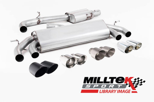 Milltek Cat-back - GPF Back Performance Exhaust - S3 - 2.0 TFSI quattro 3-Door 8V.2 (GPF Equipped Models Only) - 2019 - 2021