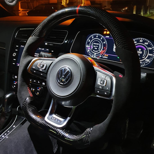 VW Custom Carbon Fibre Steering Wheel