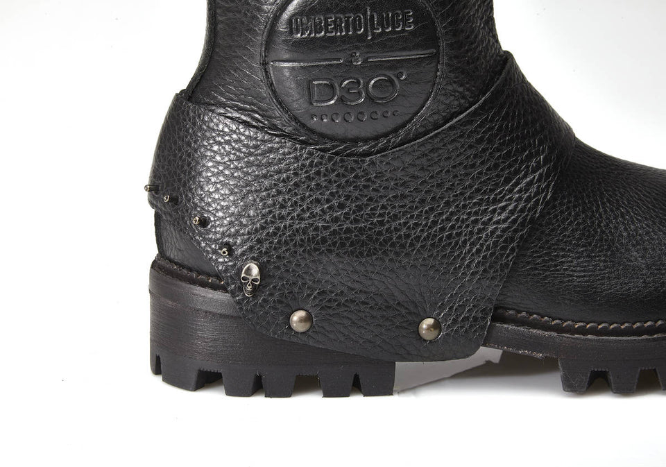 Travolta Motorcycle Boots By Umberto Luce