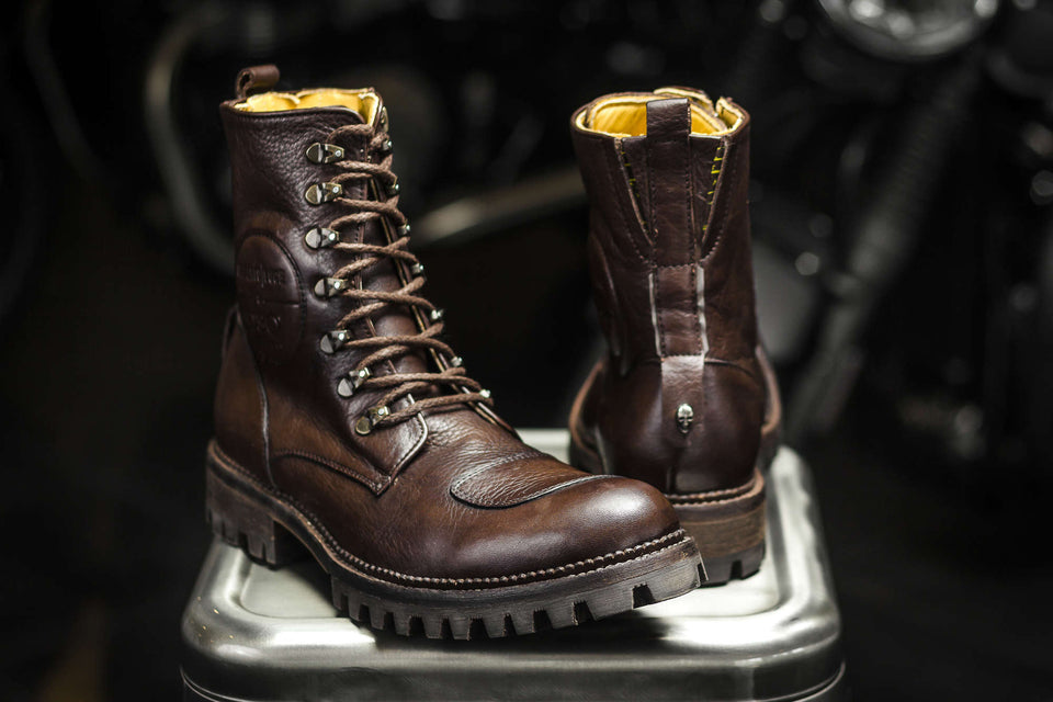 Levine Motorcycle Boots By Umberto Luce