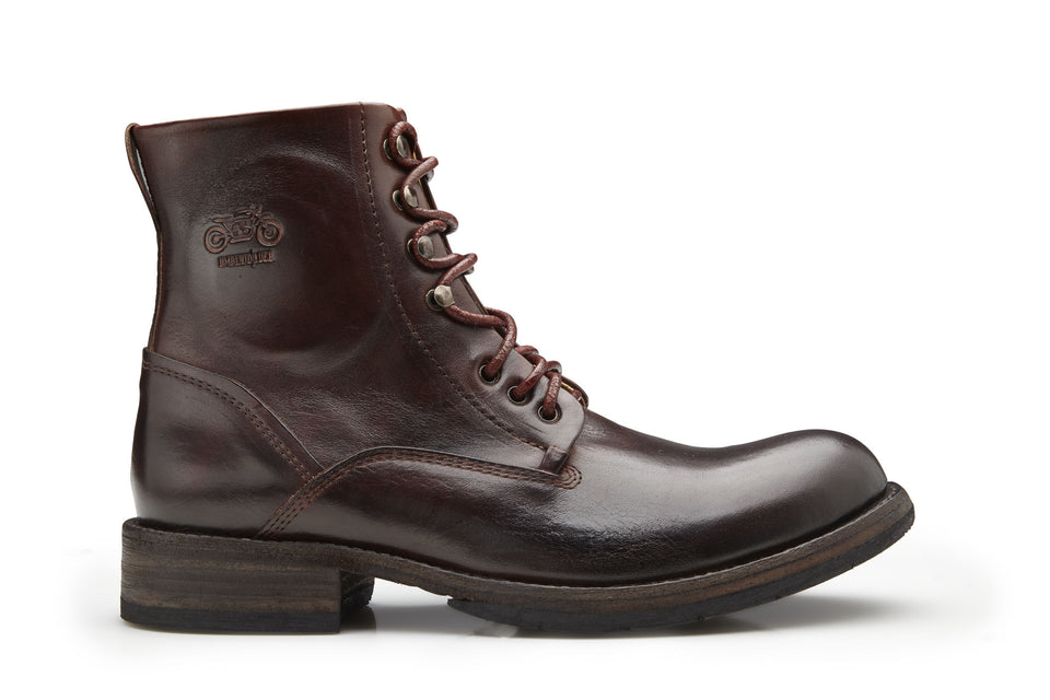 Brown Motorcycle BootsLeather - Umberto Luce