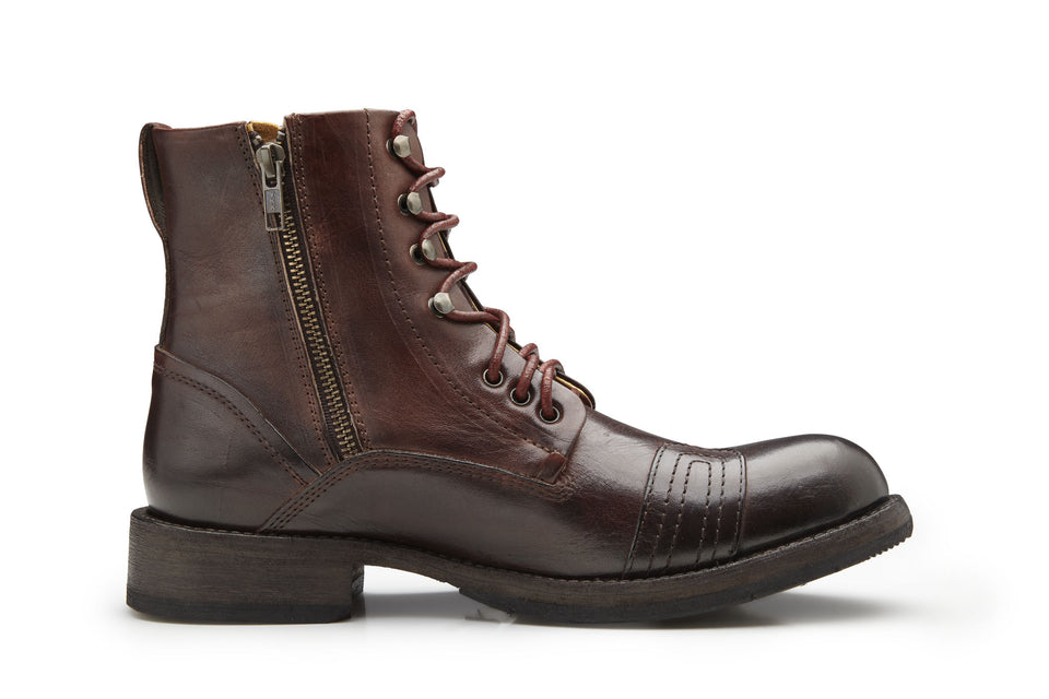 Brown Motorcycle Boots By Umberto Luce