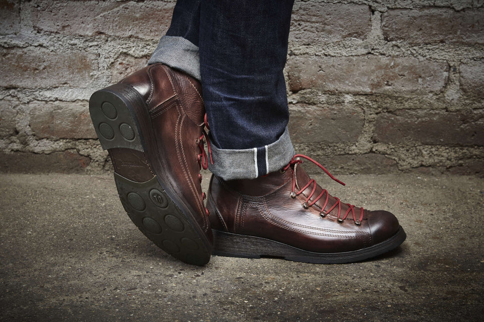Hogs Leather Cafe Racer Boots By Umberto Luce