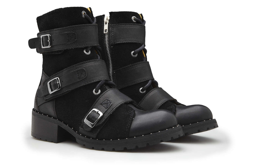 Weiss Women Motorcycle Boots By Umberto Luce