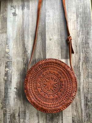 LA LUNA CROSSBODY LEATHER BAG